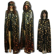 Halloween Costume Gothic Hooded Cloak Wicca Robe Medieval Witchcraft Cape HOT