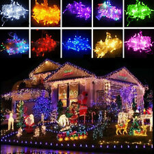 10M/20M 100/200 LED Bulbs Christmas Fairy Outdoor String Lights Lamps Waterproof