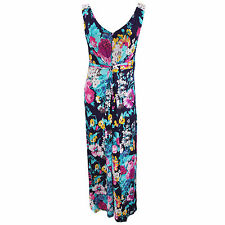 Womens/Ladies Bright Floral Print Sleeveless Maxi Summer Dress