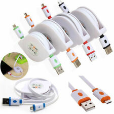 2A High Speed Retractable Micro USB Data Sync Charger Charging Cable Cord Lot