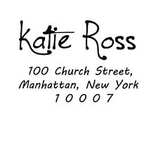 Unmounted  Custom Rubber Stamp Business Address Wood Mounted Personalize Stamp