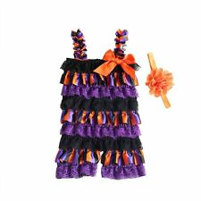 Baby Kids Girls Infant Rompers Jumpsuit Bodysuit & Headband Halloween Outfit Set