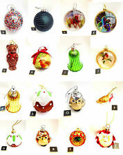Gisela Graham Santa Owl Robin Christmas Tree Bauble Christmas Decorations