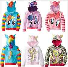 Girls my little pony Hoodie Wings Kids Jacket Sweater Twilight Rainbow Dash new