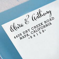 Custom Family Return Address Stamp Unmounted Wood Mounted Rubber Stamp