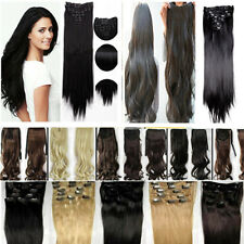 UK extra volume clip in ponytail hair extensions bangs Long Straight/Curly/Wavy