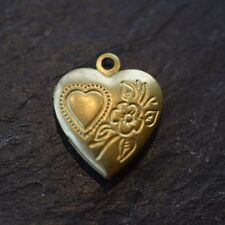 GOLD PLATED LOCKET PENDANTS *HEART & ROUND *HIGH QUALITY FINDINGS MADE IN UK