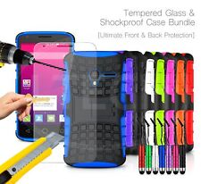 For Sony Xperia - Shockproof Hybrid Case Cover, Glass Protector & Mini Pen