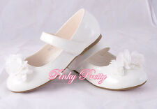 Flowers Mary Janes Shoes Size UK 9-12 EU 26.5-30 Wedding Bridesmaid Party # 009