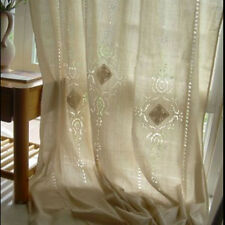 Country Vintage Hollow Crochet Window Curtain Blackout Drape Panel Tab Top/Hook