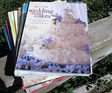 Wilton wedding, cake decorating books. Planning, recipes, how to. Vintage. Used