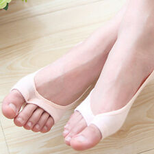 Women  Summer Cotton Invisible Anti Slip Ankle Boat Open-toed Socks Trendy