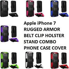 Apple iPhone 7 RUGGED ARMOR BELT CLIP HOLSTER STAND COMBO PHONE CASE COVER