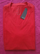 NWT A|X ARMANI EXCHANGE Tee T Shirt V-Neck Mens Muscle Slim Fit Size M and L