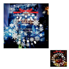 Christmas Snowflakes Wall Door Window Decoration decor stickers Art Removable FK