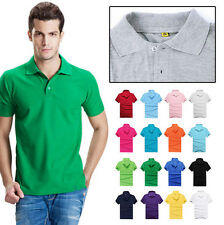Men's Sports T Shirt Cotton Hot Casual Short Sleeve T Shirt Polo Tee Slim Fit