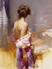 pino daeni Hand Painted Portrait Oil Painting on Canvas Wall Art Sexy woman