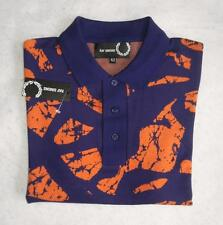 Fred Perry x Raf Simons Jacquard Patterned Polo Shirt - BNWT New - 38 - Small