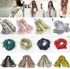 New Womens Fashion Pretty Long Soft Chiffon Scarf Wrap Shawl Stole Scarves Lot