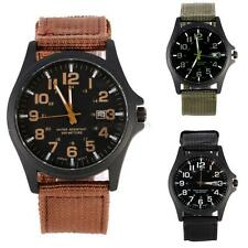 Military Nylon Strap Waterproof Date Quartz Watch Army Mens Quartz Wrist Watches