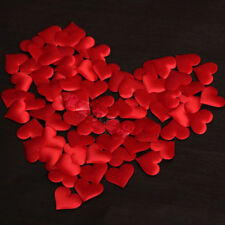 100pcs Red Personalised Love Hearts Petals Wedding Party Table Decoration