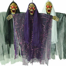 Horror Hanging Ghost Glowing Eyes Haunted House Props Halloween Party Decoration