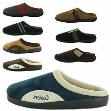 MENS COOLERS SLIP ON MEMORY FOAM SHOES HOUSE MULE HOUSE SLIPPERS CLOGS UK SIZES