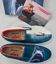 8 Sperry Top-Sider x Jaws Striper Slip On Shark Attack Boat Shoe Movie Poster