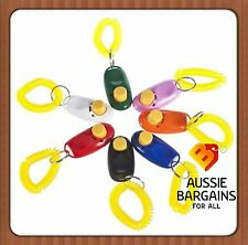 Quick Dog Pet Training Clicker Obedience Agility Trainer Aid with Wrist Strap SS