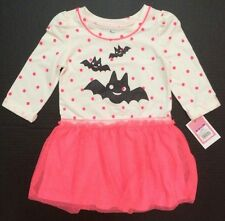 Circo Bat pink white polka dot Halloween girls dress size 12 18 months 3T 4T 5T