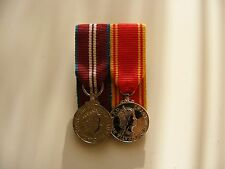 QDJM and Fire Service LSGC Miniature Medal Court Mounted (jubilee diamond)