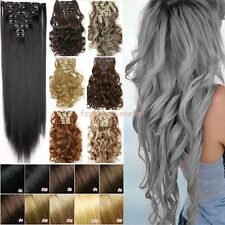 "Newly Hair 24""/26"" Long Straight Wavy Curly Clip in Hair Extensions Full Head FS"