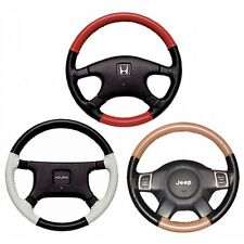 Custom Fit 1 - 2 Color Leather Steering Wheel Cover Wheelskins EuroTone 15X4 3/8