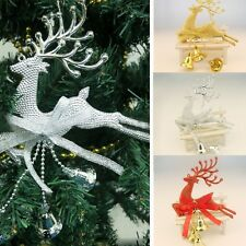 3 x Cute Leaping Deer Chital Christmas Tree Decor Xmas Baubles Party Ornament DW