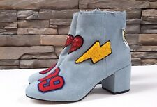 Asos Rowdy Patchwork Ankle Boots Blue Denim US6.5-10