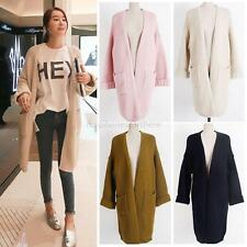 Women Casual Long Sleeve Knitted Sweater Cardigan Loose Sweatshirt Outwear Coat