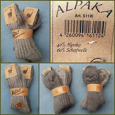2 Pair Alpaca Socks Alpaca and sheep's wool Grey tones Gr. 39-46 (1 Pair