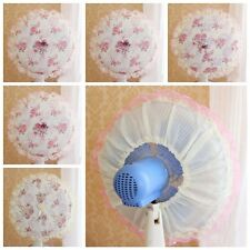 1Pc Utility Lace Embroidered Cloth Pastoral Circular Dust Electric Fan Cover Hot