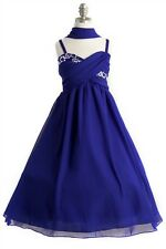 Long Junior Bridesmaid Dress Pageant Wedding Bridal Flower Girl Formal Ball Gown