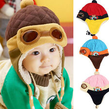 Cute Boys Kids Baby Winter Warm Cap Hat Beanie Pilot Aviator Crochet Earflap Hat