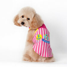 New Arrival Pet Puppy Shirt Small Dog Cat Vest Stripes T Shirt Apparel Clothes w