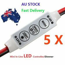 12V 3528 5050 Mini In-Line LED Light Strip Dimmer Controller  On/Off Switch AU
