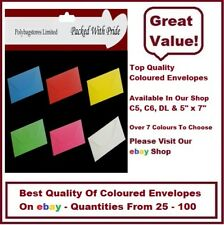 C5 COLOURED ENVELOPES - CHOOSE FROM 6 COLOURS - GREETING CARDS