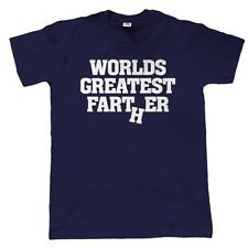 Worlds Greatest Farter, Mens Funny T Shirt, Gift for Dad Fathers Day