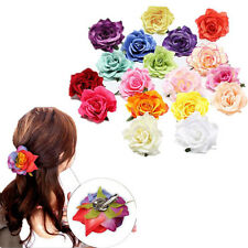 1pcs Women Hot Wedding Party Bridesmaid Rose Flower Hairpin Hair Clip Bridal