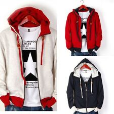 New Men's Casual Luxury Slim Fit Sexy Designed Hoodies Sweaters Jackets Coats ui