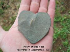 Old Very Rare Vintage Antique Civil War Relic Confederate Heart Shaped Case
