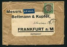 India AirMail Cover Bombay Frankfurt Germany King GeorgeV stamp1Rs 27-Jul-31Used
