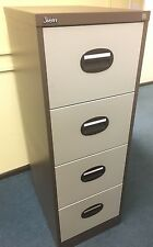 Silverline 4 Drawer Filing Cabinet With One Key