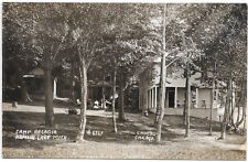 Real Photo Postcard Camp Arcadia in Hamlin Lake, Michigan~103176